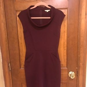 Banana Republic maroon dress size 2